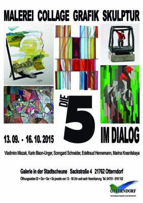 Plakatentwurf für Ausstellung Karl-Heinz Kühnke_Die Weser